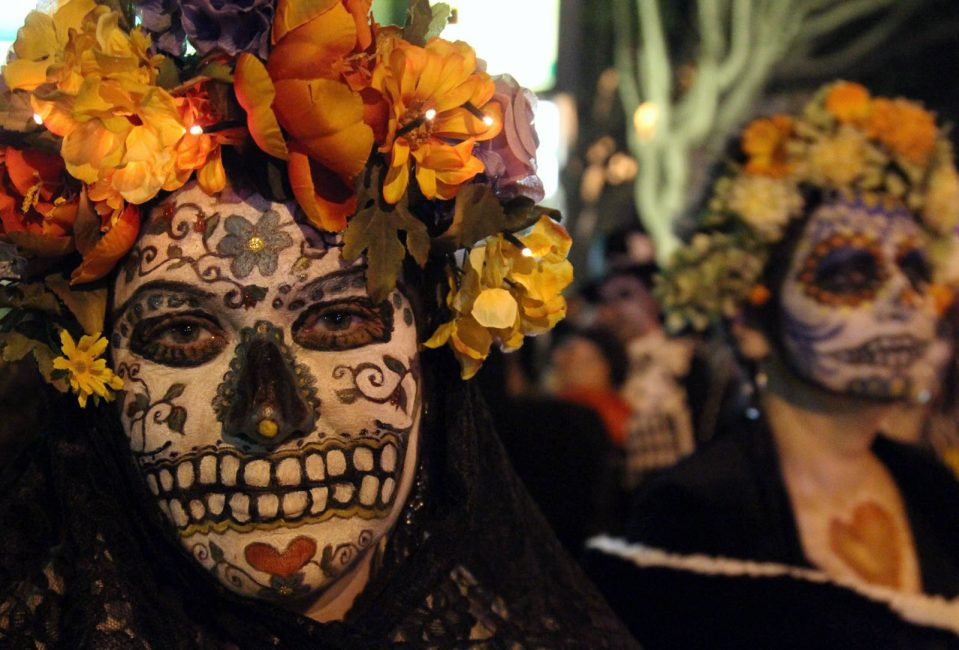 day of the dead faces-Mexico